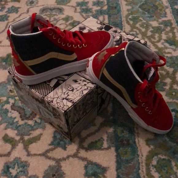 0ddce34f384b7e Vans Shoes - Captain Marvel Sk8-Hi Vans 6.5 men s 8 women